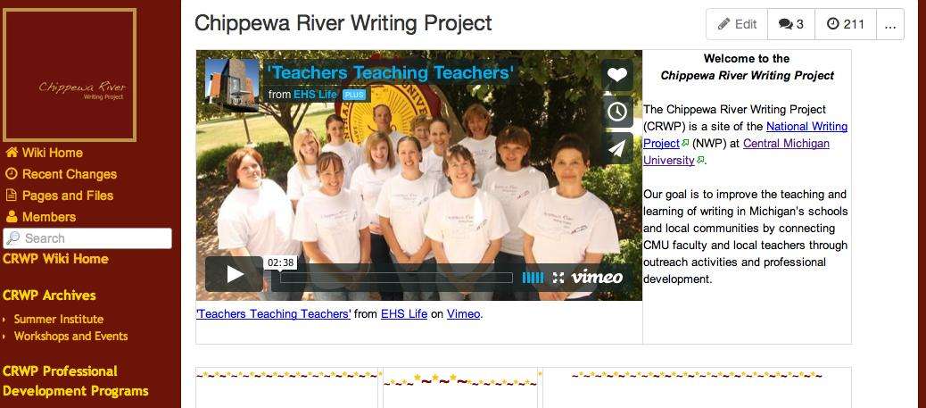 Chippewa River Writing Project